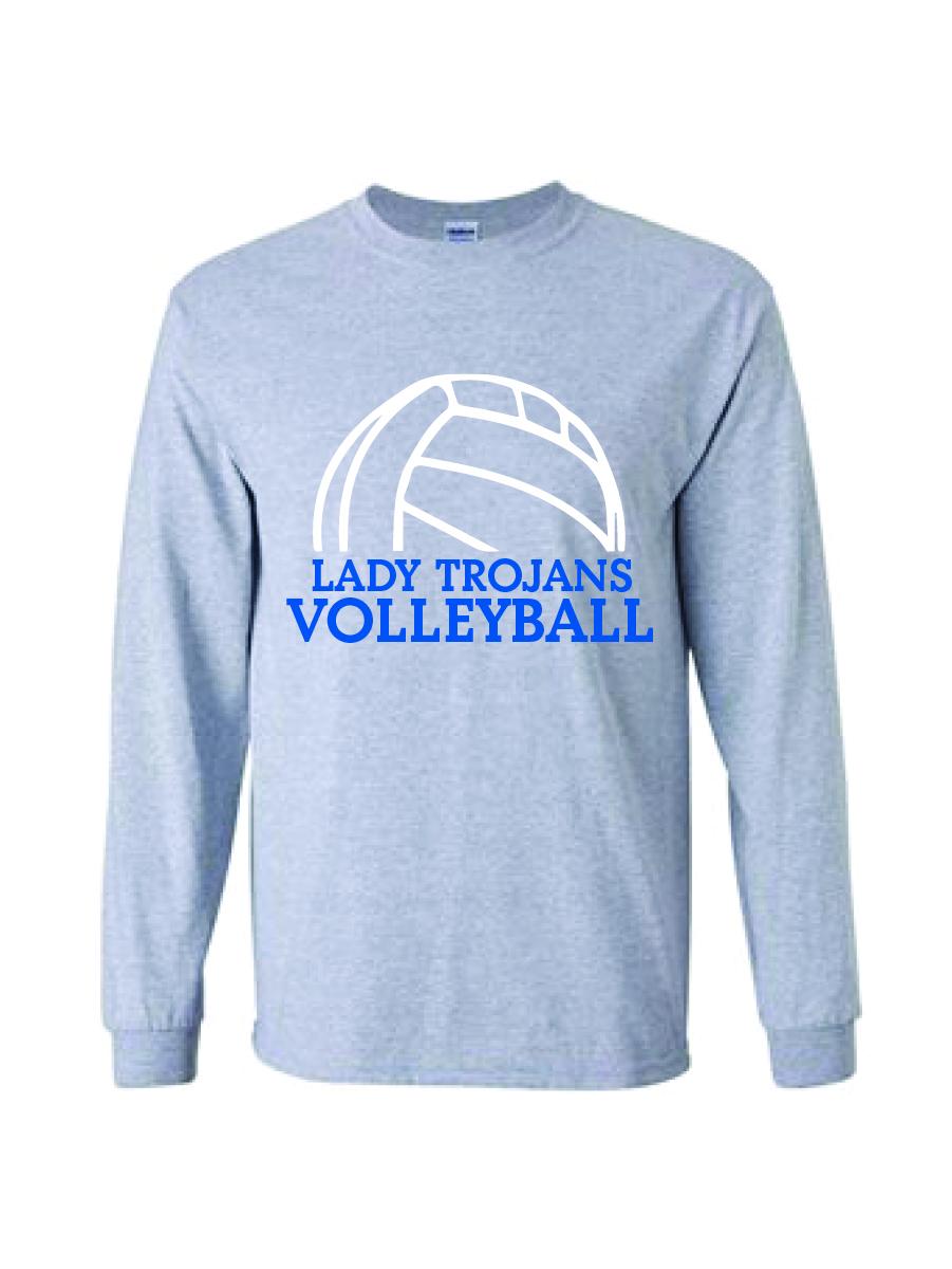 Auburn Volleyball Long Sleeve Shirt (Sport Gray)