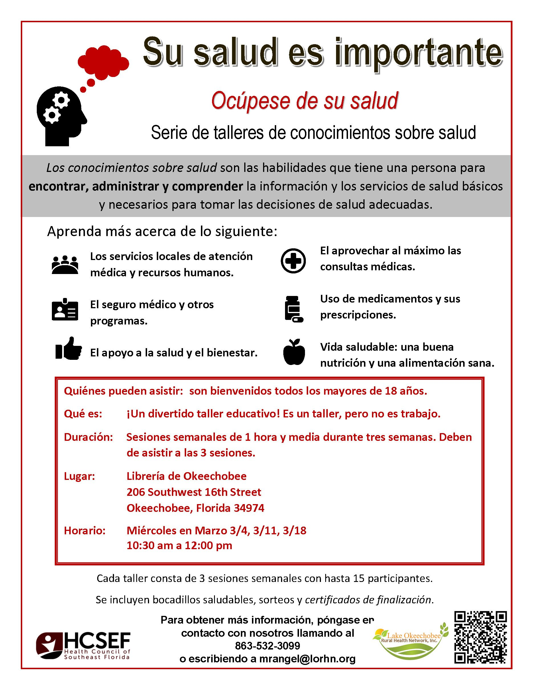 Your Health Matter-Health Literacy Workshop (Spanish)