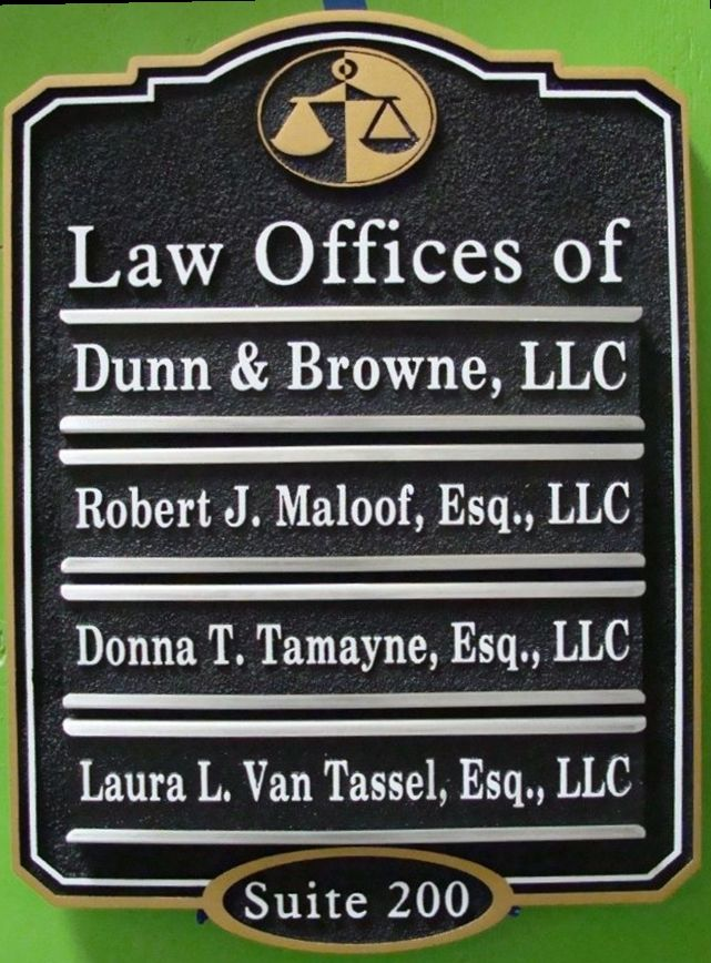 A10625 - Law Office Directory Sign with Changeable Nameplates