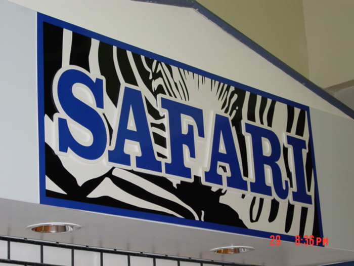 Safari Storefront Sign