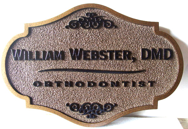 BA11584 - Sandblasted HDU Wall Plaque for Orthodontist