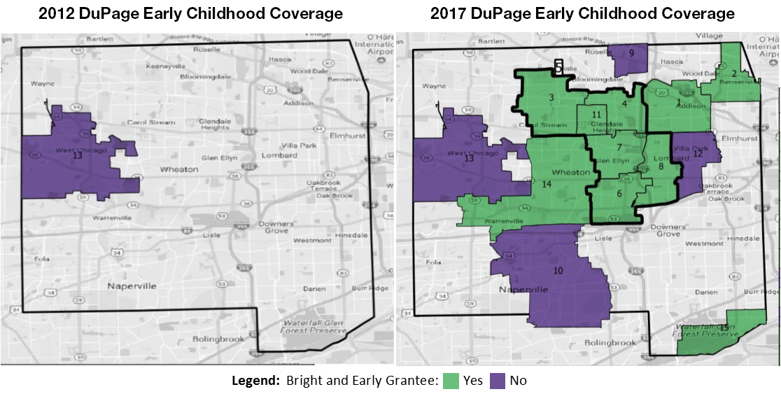 Bright and Early DuPage Update: 2012 - 2017 Map Comparison