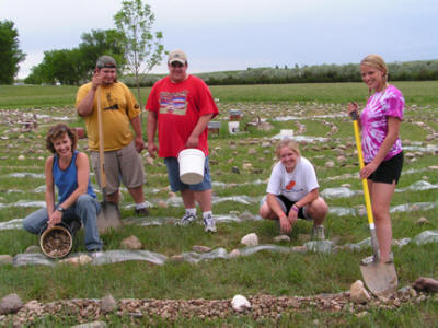 Ongoing Beautification of Annunciation Monastery Labyrinth