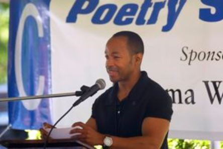 Bruce Alford in the Poetry Tent at the Alabama Book Festival (contributed)