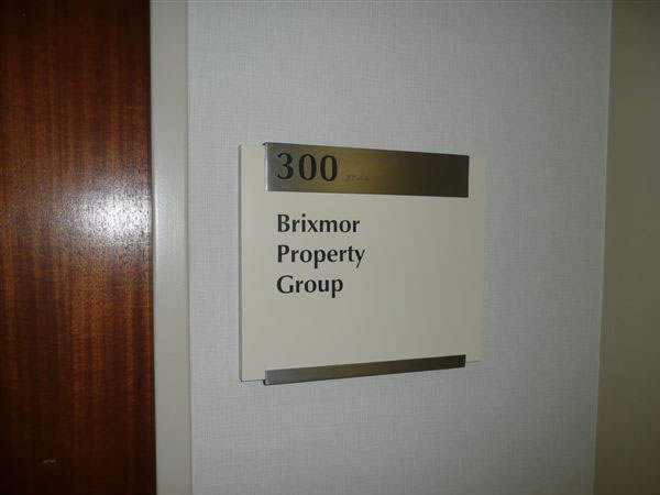 Brixmor Suite Sign