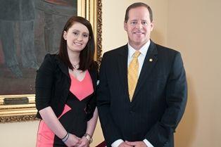 Sen. Cam Ward with Elizabeth Ashley Leach