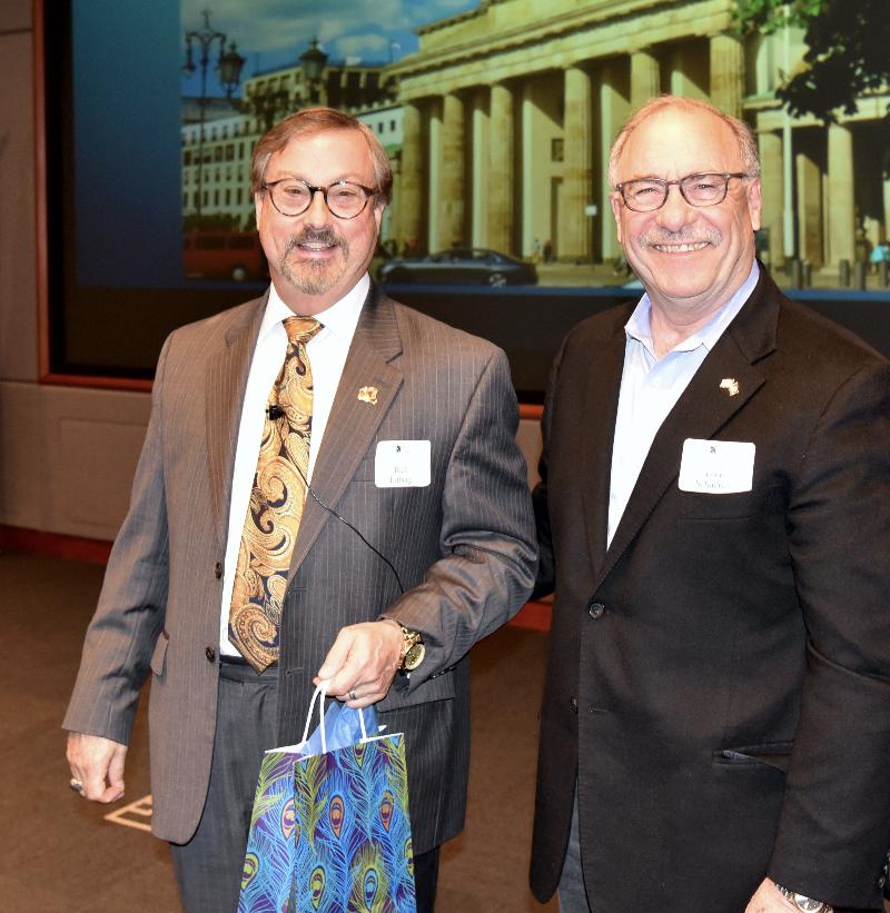 Mr. Rick Estberg and NCMF President Mr. Dick Schaeffer - 2019 NCMF Spring Program