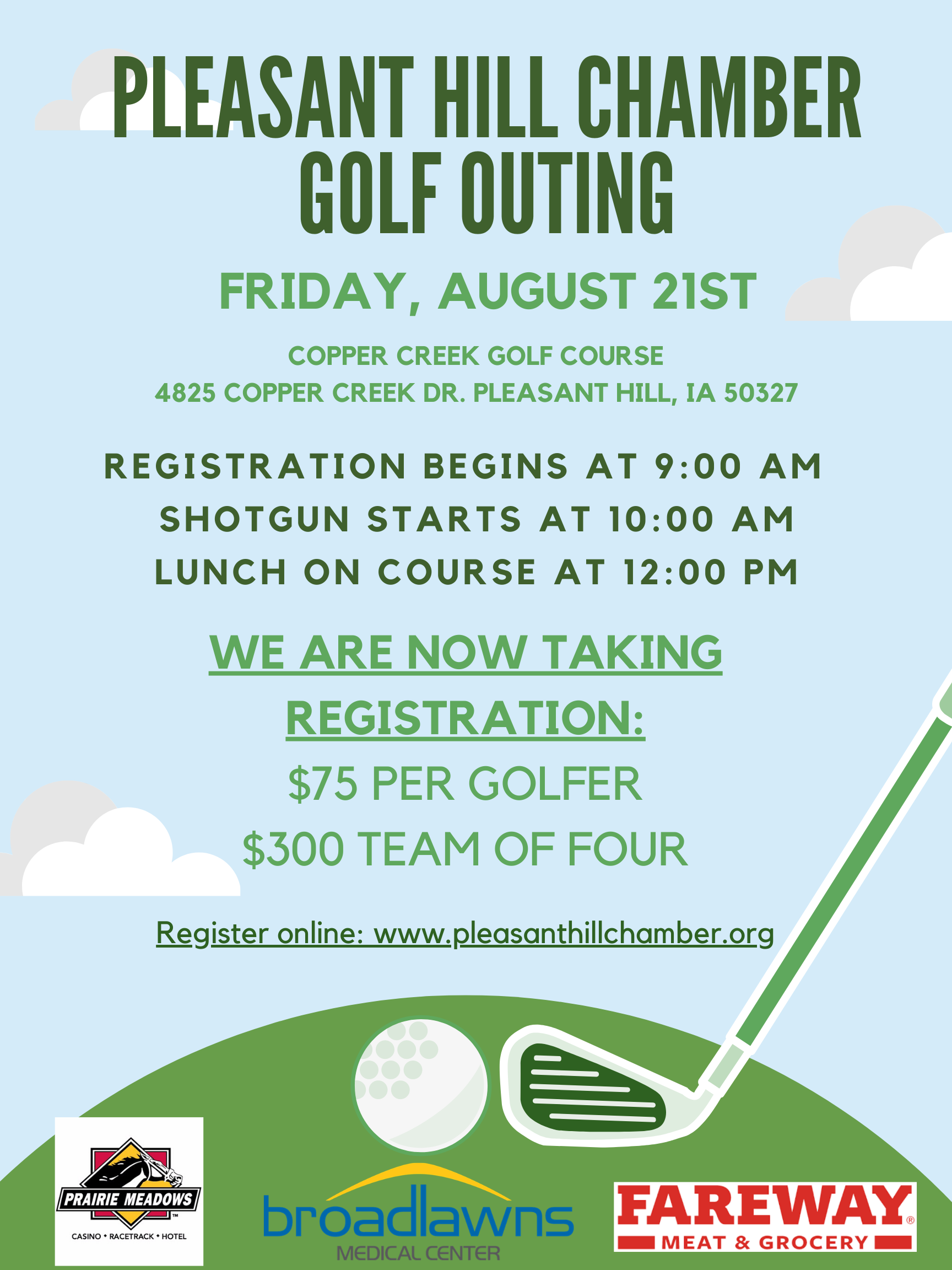 Pleasant Hill Chamber Annual Golf Outing