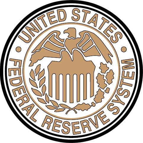 AP-4740 - Carved Plaque of the Seal of the US Federal Reserve , Artist Painted