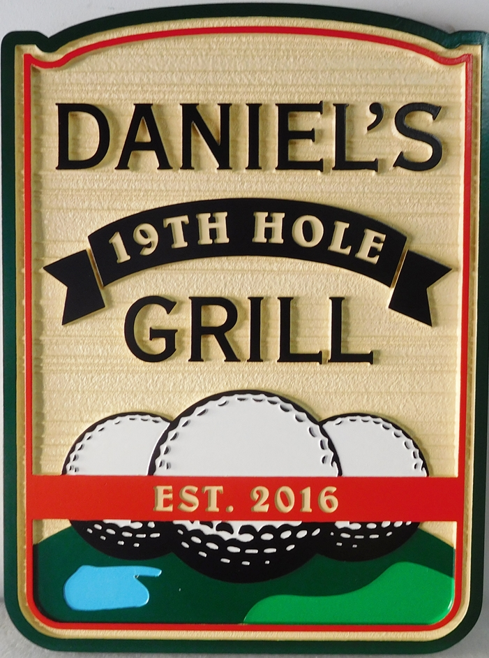 RB27311 - Carved Golf Sports Bar Sign