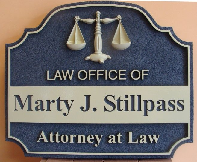 A10143 -  Carved HDU Attorney Sign