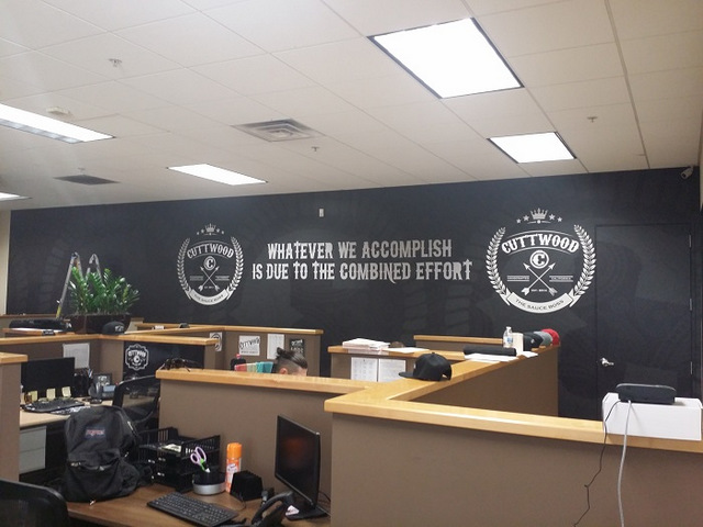 Custom wall wraps for small businesses in Orange County