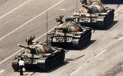 1989: Chinese troops crushed protestors in Tianamen Square.