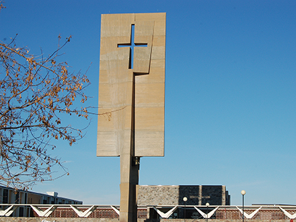The Bell Banner Cross Shadow Reminds Us of God's Presence