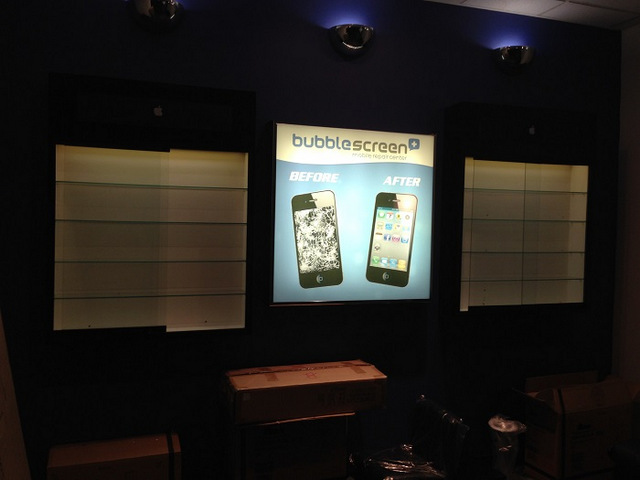 Back lit displays for Buena Park Mall Tenants