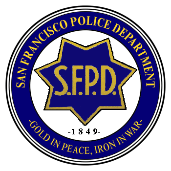 PP-3360 -  Carved Wall Plaque of the Seal of the San Francisco Police Department,  Artist Painted