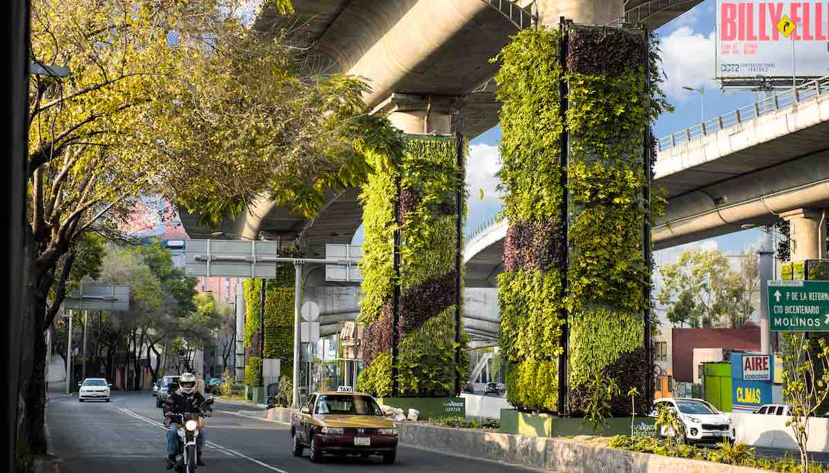 City is Converting Highway Pillars into Vertical Gardens to Clean the Air