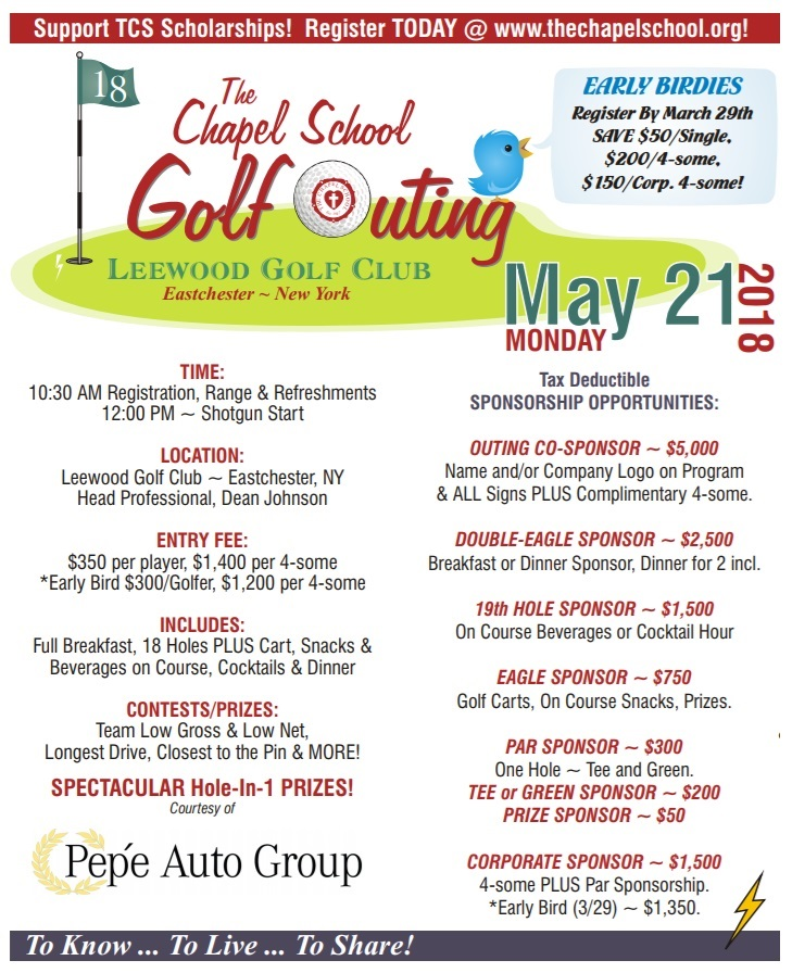 The Chapel School Golf Outing