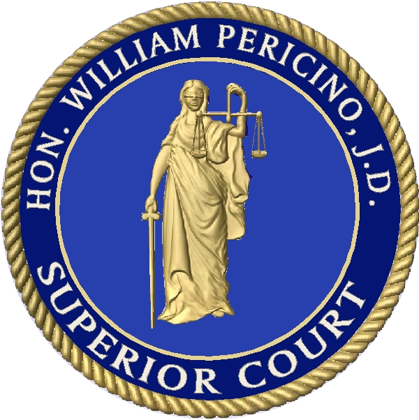HP-1180 - Carved Plaque of the Seal of the Superior Court , Gold Gilded