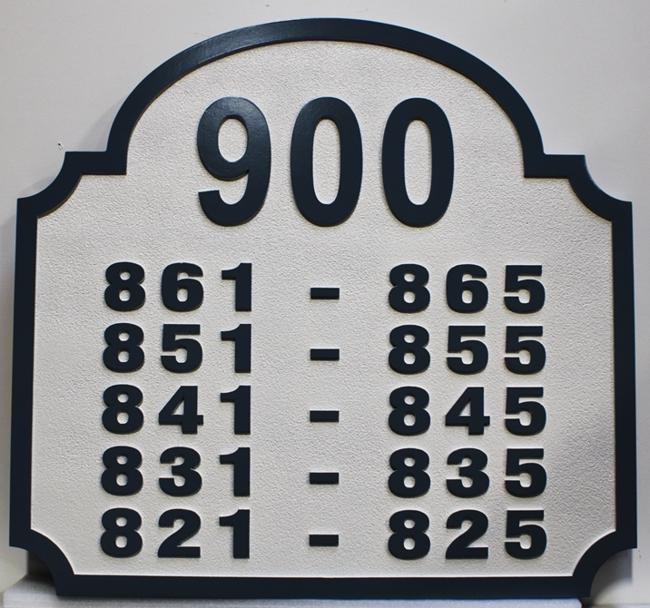 KA20843 - Custom Unit Number Building Sign for an Apartment Complex