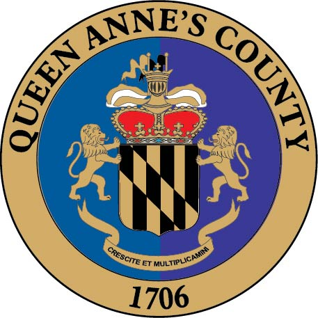 CP-1490 - Carved Plaque of the Seal of Queen Anne's County, Maryland,   Artist Painted