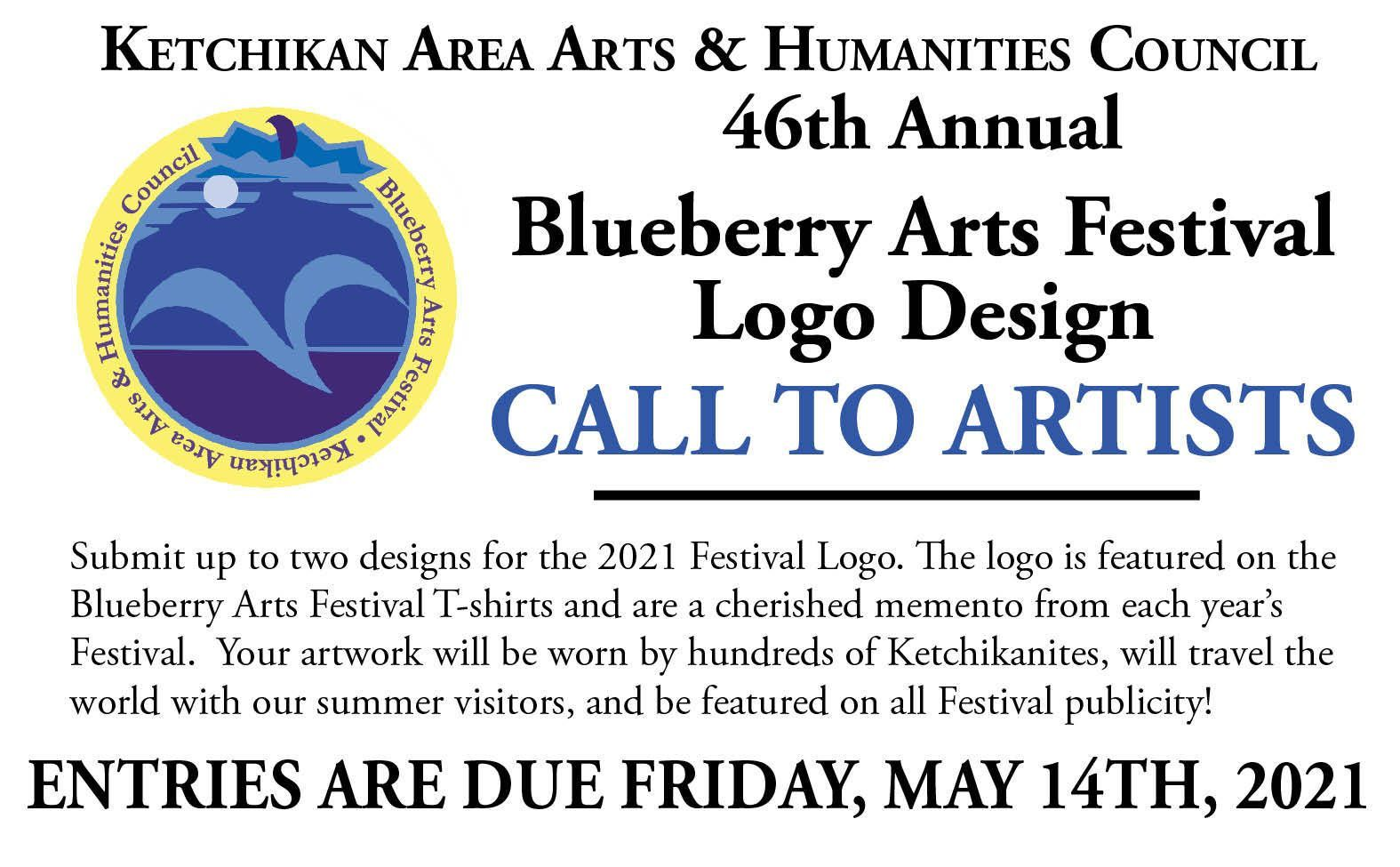 46th Annual Blueberry Arts Festival Logo Design Call to Artists