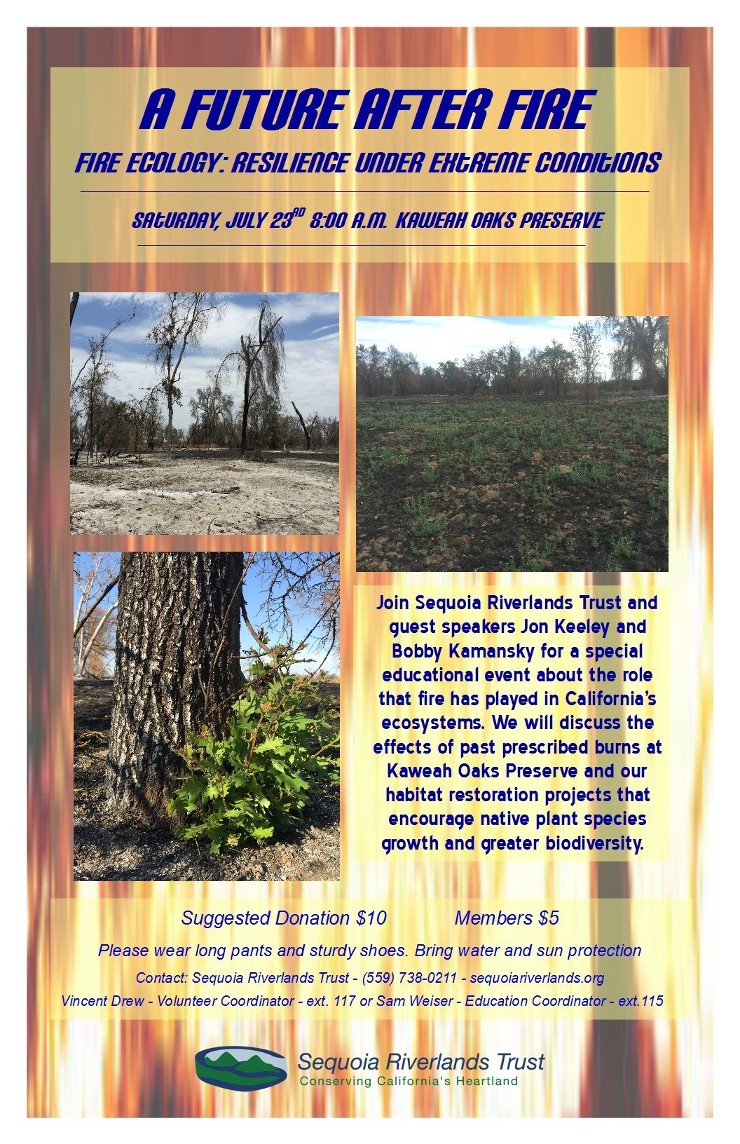 Learn about fire ecology at KOP