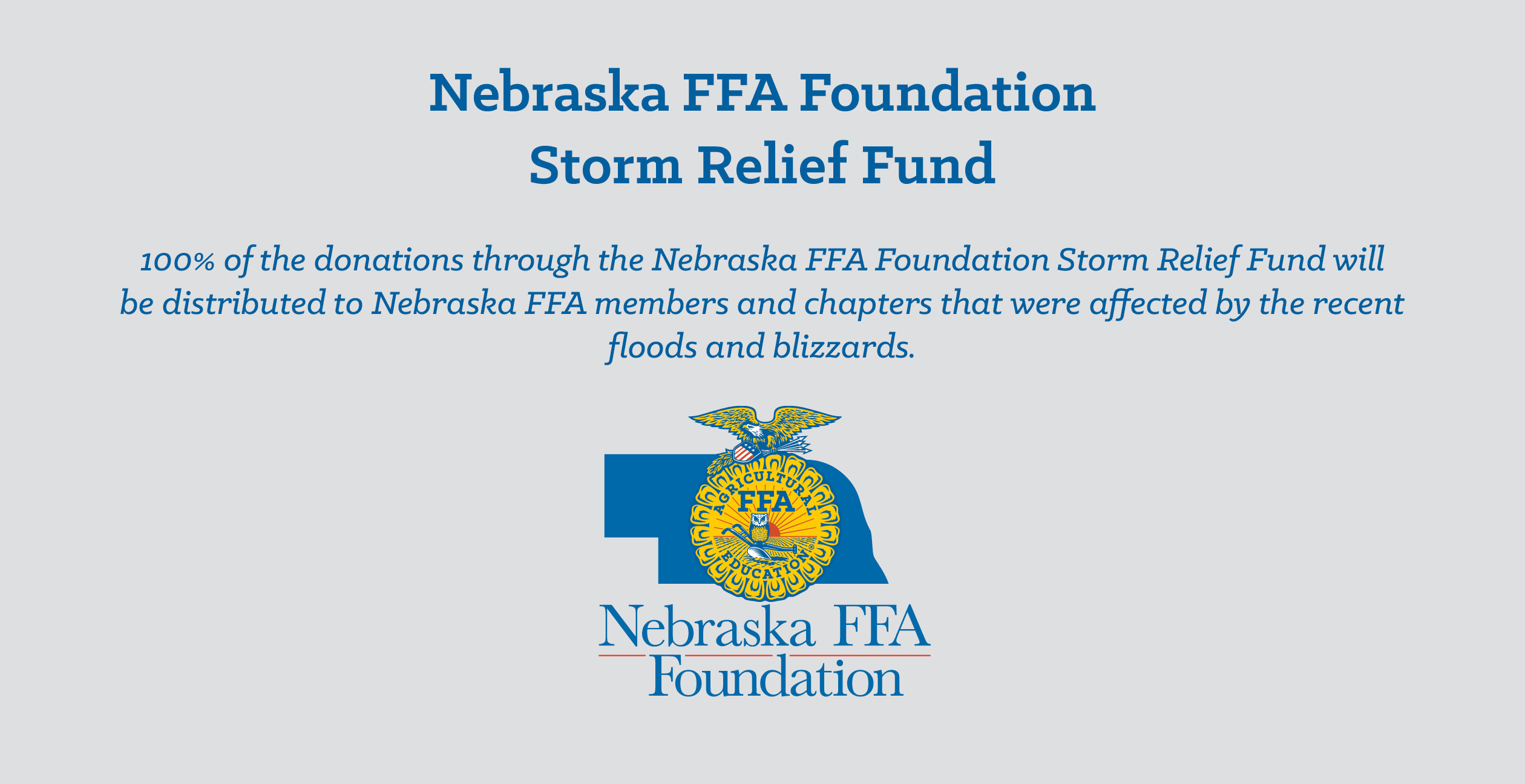 Hayes Center FFA Raises $2000 for FFA Disaster Relief in Nebraska