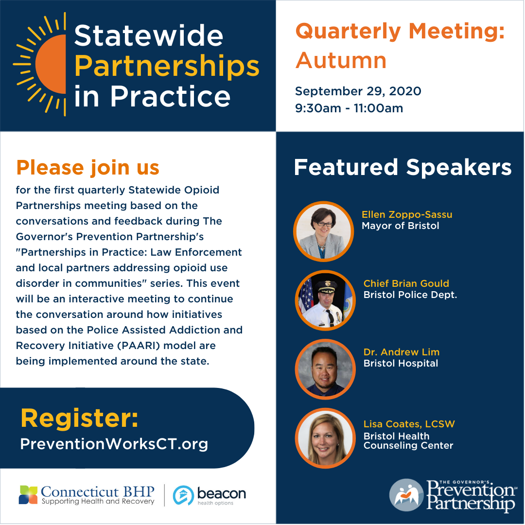 Statewide Partnerships in Practice: Quarterly Meeting - Autumn, 2020