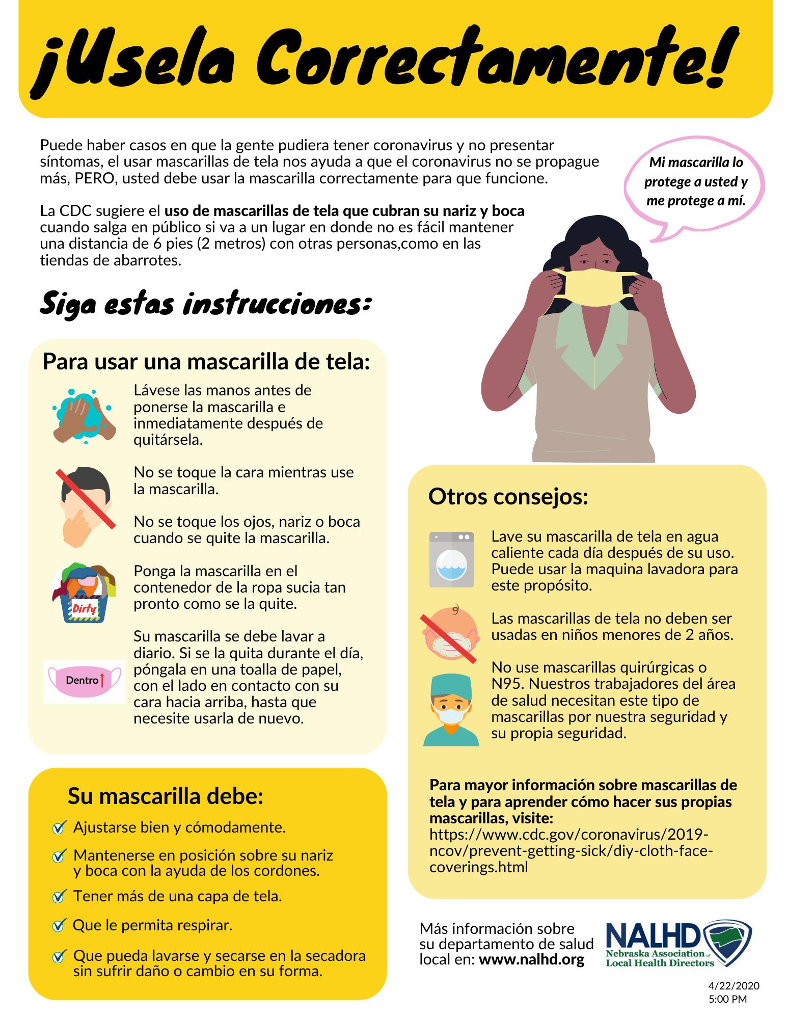 Cómo usar una máscara