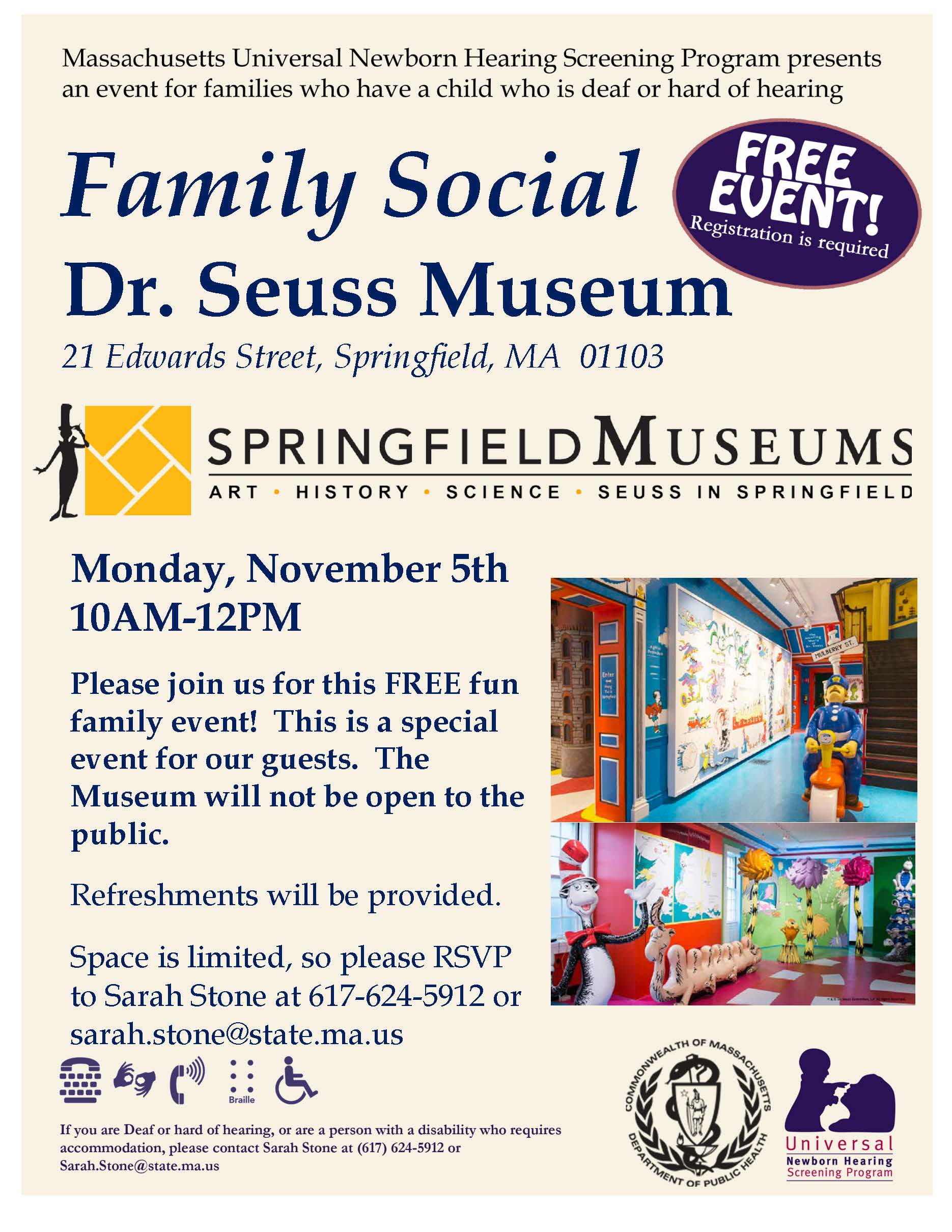 Famiy Event at the Dr. Seuss Museum