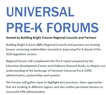 Universal Pre-K Forum