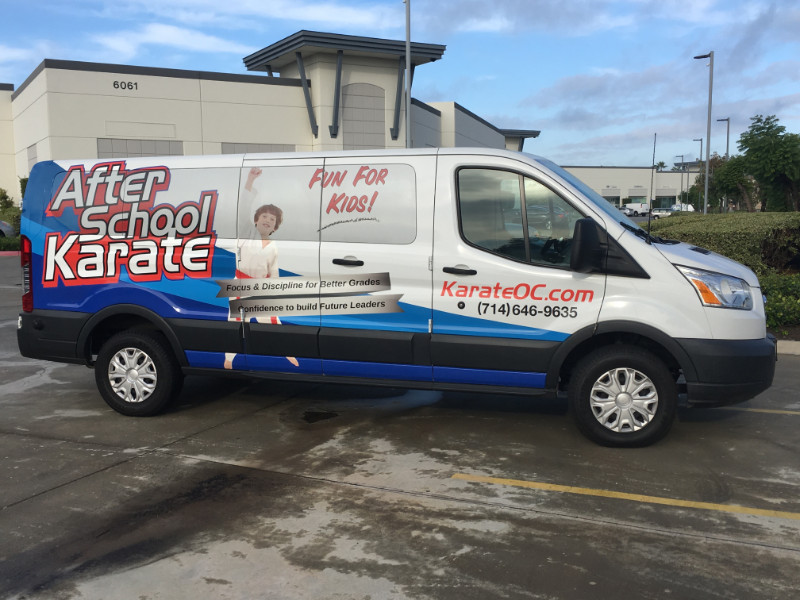 Karate Studio Van Wraps Placentia CA