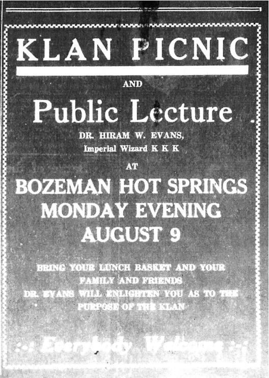 Bozeman's hidden history with the Ku Klux Klan