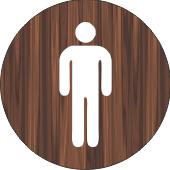 08 Wood Tone Restroom Sign