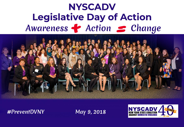 Recap of NYSCADV's Legislative Day of Action 2018