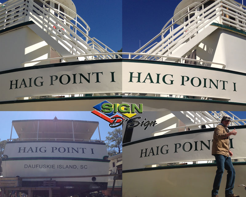 Haig Point Boat Lettering