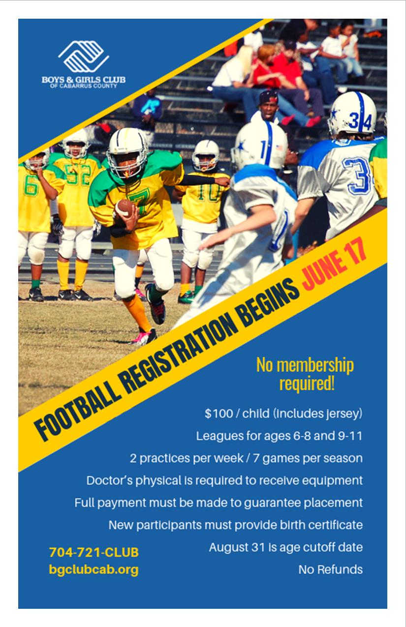2019 Football Program - $100 Fee