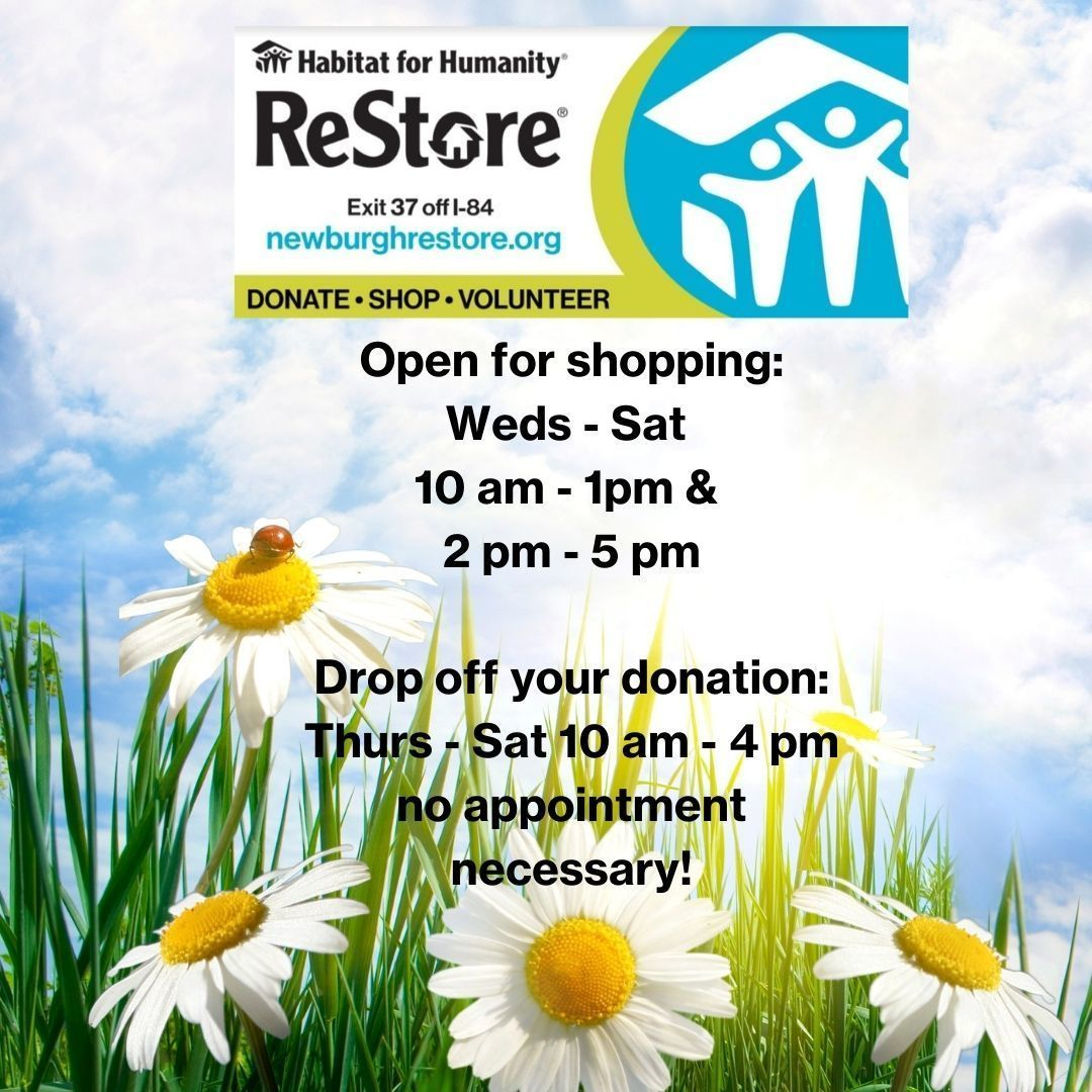 ReStore Shopping & Donation Drop Off Hours