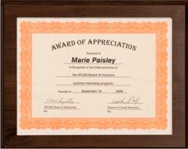 Certificate Frame Plaque