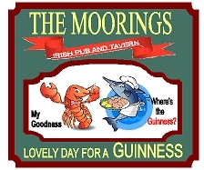 Q25132 - Carved Restaurant Sign for Irish Pub and Tavern with Guinnes Beer, Lobster and Fish