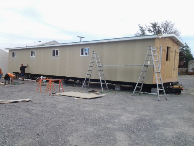 Mobile Chapel's outside is nearly finished