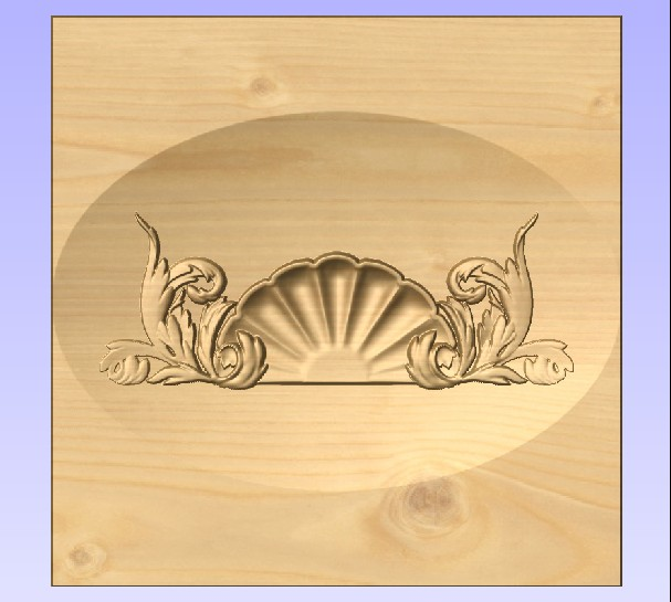 M3982 - Carved Maple Shell Flourish