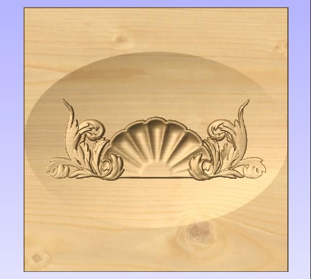 M3982 - Carved Maple Shell Flourish
