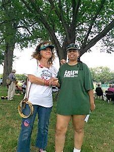 Texas activist Cathy Courtney and Marcia Everett from S. Carolina