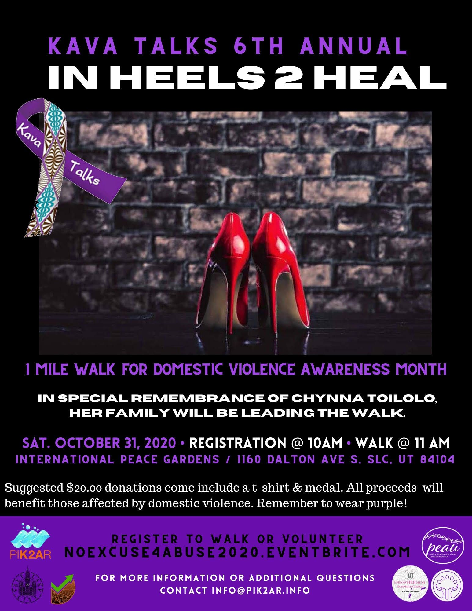 DVAM | KAVA Talks 6th Annual In Heels 2 Heal Domestic Violence 1 Mile Walk