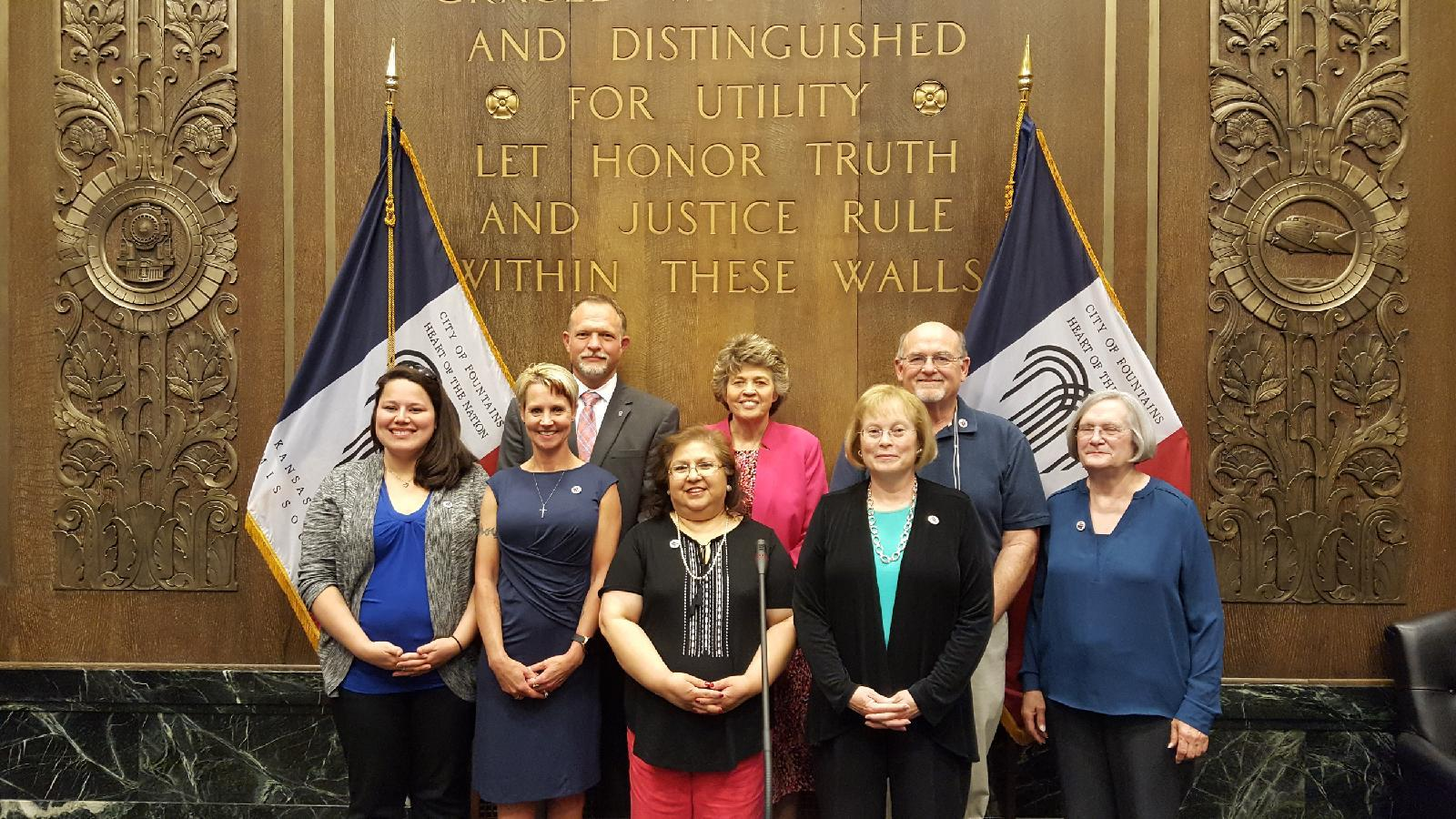 Caregivers at the Hidden Heroes City Proclamation signing in Kansas City