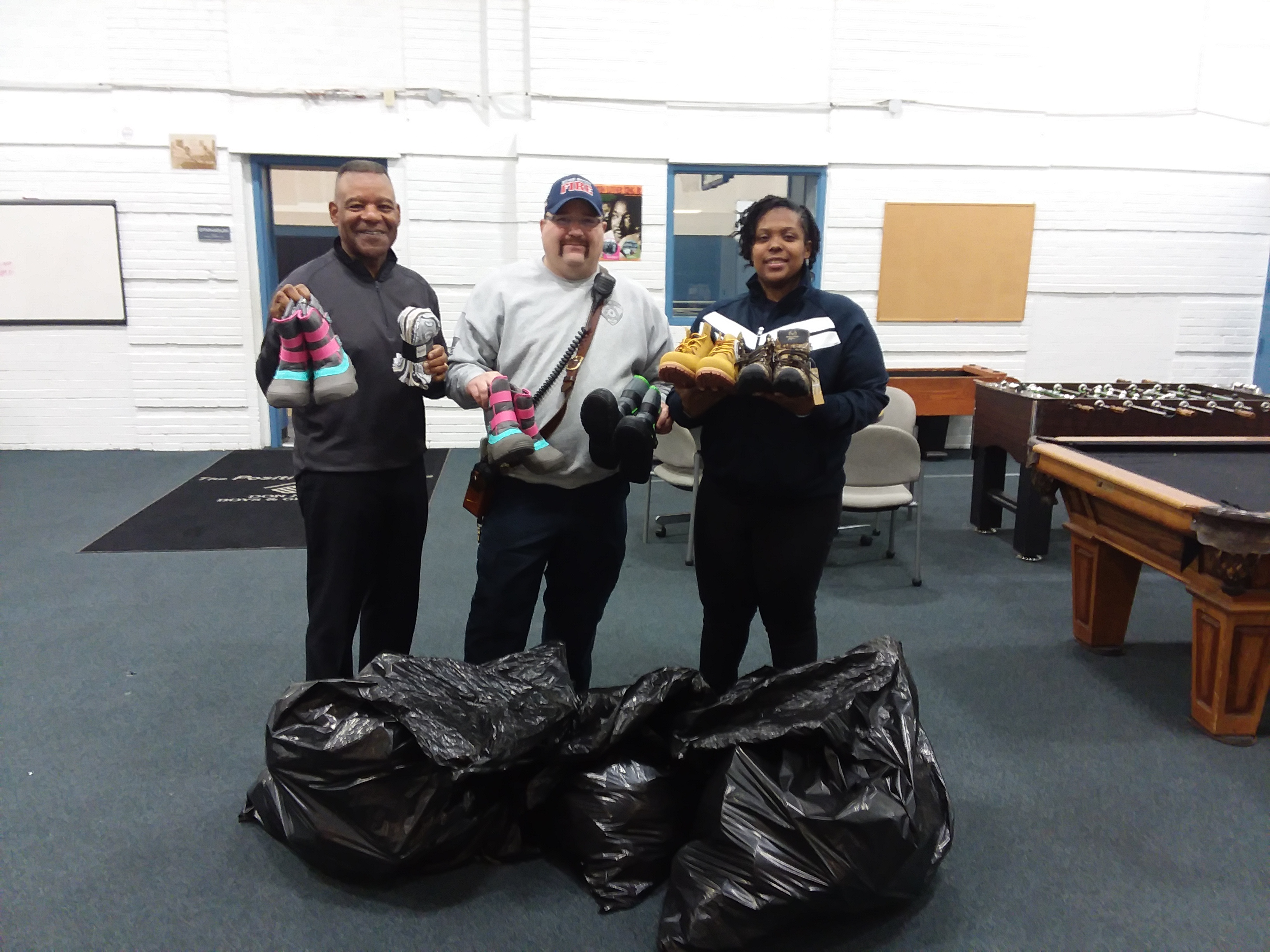 Edge-Scott Fire Department donates boots and socks!