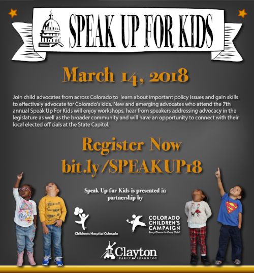 Clayton Early Learning News Events Events Speak Up For Kids 2018