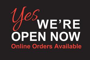 we're open now